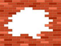 Verpletterde bakstenen muur vector illustratie