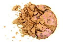 Verpletterde Bruine Oogschaduw stock afbeelding
