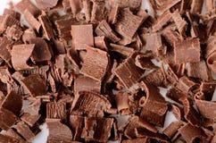 Verpletterde chocolade op witte achtergrond Royalty-vrije Stock Afbeelding