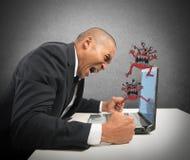 Verpletterde computer Stock Foto