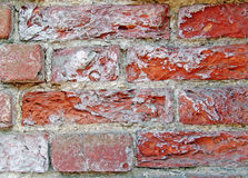 Verpletterde Oude Grungy Rode bakstenen Stock Fotografie