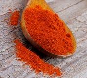 Verpletterde paprika Stock Fotografie