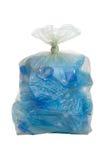 Verpletterde plastic fles Stock Afbeeldingen