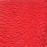 Verpletterde rode document textuur Stock Afbeeldingen