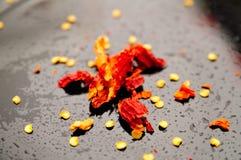 Verpletterde rode Spaanse peper Royalty-vrije Stock Afbeelding