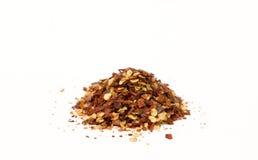 Verpletterde Spaanse peper Stock Foto's