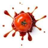 Verpletterde tomaat royalty-vrije stock afbeelding
