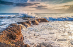 Verpletterende golven Royalty-vrije Stock Afbeelding