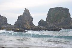 Verpletterende golven stock foto