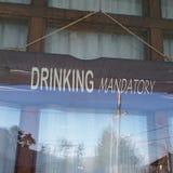 Verplicht drinken Stock Foto's