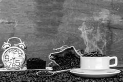 Verrückt in der Liebe mit Kaffee Lizenzfreies Stockfoto