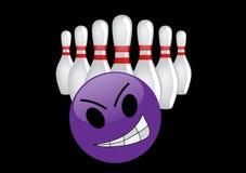 Verrückte Bowlingspielkugel Lizenzfreie Abbildung