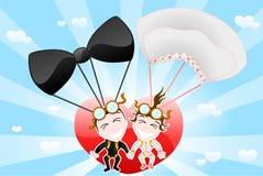 Verrückte Braut und Bräutigam Lizenzfreies Stockfoto