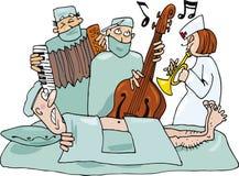 Verrückte Chirurgen stock abbildung
