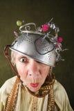 Verrückte Frau stockfotografie