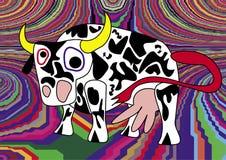 Verrückte Kuh Stockbilder