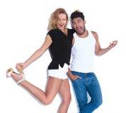 Verrückte Paare, die Spaß zusammen haben, Lizenzfreies Stockbild