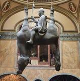 Verrückte Pferdestatue in Prag Lizenzfreie Stockfotografie