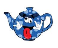 Verrückte Teekannenkarikatur Lizenzfreie Stockfotos