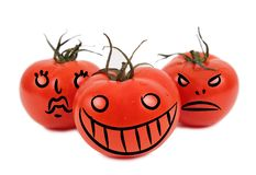 Verrückte Tomaten Stockbild