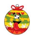Verrückte Weihnachtsbaum-Spielzeugkarikatur Stockbild