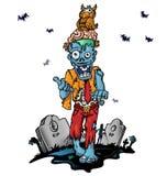 Verrückte Zombiekarikatur Lizenzfreie Stockfotos