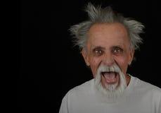 Verrückter älterer Mann lizenzfreies stockbild