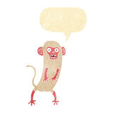 verrückter Affe der Karikatur mit Spracheblase Stockfoto