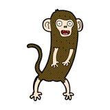 verrückter Affe der komischen Karikatur Lizenzfreie Stockfotos