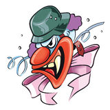 Verrückter Clown Lizenzfreies Stockfoto