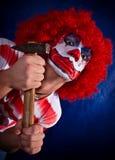 Verrückter Clown lizenzfreie stockbilder