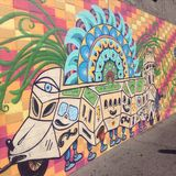 verrückter Hippiebus Stockbild