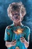 Verrückter kleiner Elektriker Lizenzfreies Stockfoto