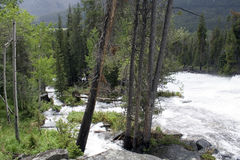 Verrückter Nebenfluss - Wyoming lizenzfreies stockfoto