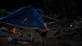 Verrückter Sturm stock footage