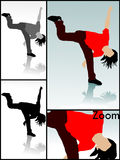 Verrückter Tänzer Lizenzfreie Stockbilder