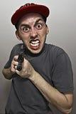 Verrückter Terrorist stockfoto