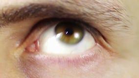 Verrücktes Auge, Furcht, Überraschung stock footage
