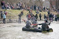 Verrücktes Fertigkeit-Fluss-Rennen, Porthoffnung, 31. März /2012 Stockfotos