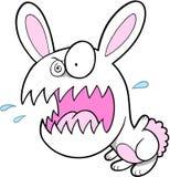 Verrücktes Häschen-Kaninchen lizenzfreie abbildung