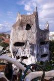 Verrücktes Haus auf dem Hintergrundpanorama des Stadt DA-Lat Stockfotos