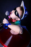 Verrücktes kühles Kind DJ Stockbild