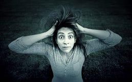 Verrücktes Mädchen überrascht Lizenzfreie Stockfotos