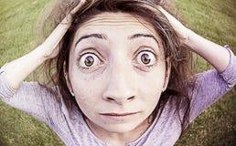 Verrücktes Mädchen überrascht Lizenzfreie Stockbilder