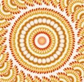 Verrücktes wirbelndes Muster Stockbild