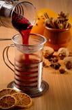 Verrührter Wein Stockbild