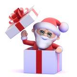 överraskning för 3d Santa Claus! Royaltyfri Bild