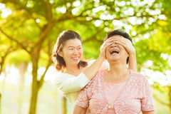 Verrassing aan mum Stock Foto