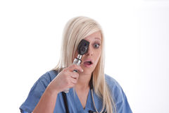Verrassing die van een medisch personeel vindt Stock Afbeeldingen