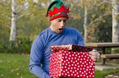 Verrast bij Kerstmis! Royalty-vrije Stock Fotografie